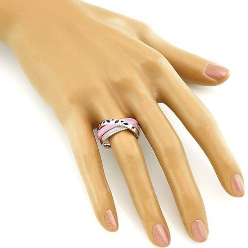 Кольцо из керамики с эмалью – Mirserebra925.ru