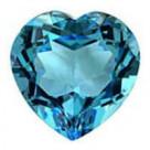 Кольца с голубым топазом в серебре