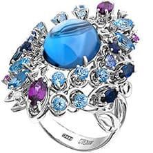 Кольца серебряные с камнями