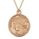 Колье с монетами из серебра
