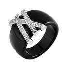 Кольца из керамики с серебром