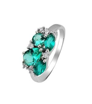 Серебряное кольцо с аквамарином ‒ Mirserebra925.ru