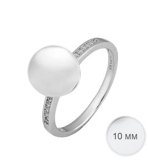 Серебряное кольцо с жемчугом ‒ Mirserebra925.ru