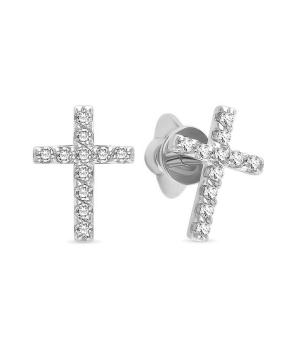 Серебряные серьги с цирконом ‒ Mirserebra925.ru
