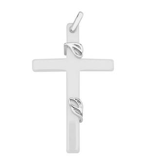 Крестик с керамикой – Mirserebra925.ru
