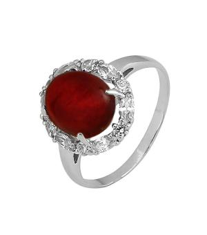 Серебряное кольцо с сердоликом ‒ Mirserebra925.ru