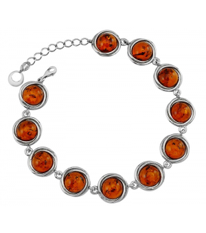 Серебряный браслет с янтарём – Mirserebra925.ru