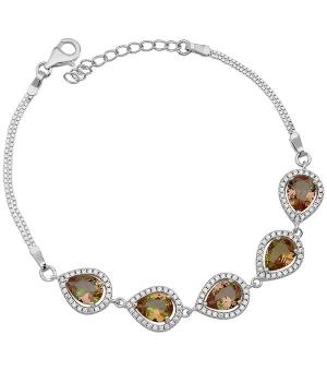 Серебряный браслет с султанитом – Mirserebra925.ru