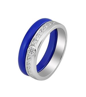 Серебряное кольцо с керамикой – Mirserebra925.ru