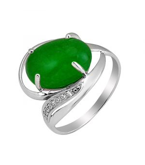 Серебряное кольцо с жадеитом – Mirserebra925.ru