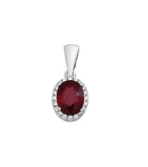 Серебряная подвеска с рубином – Mirserebra925.ru