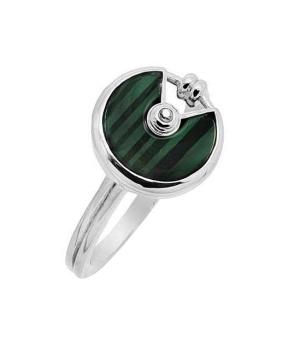 Серебряное кольцо с малахитом – Mirserebra925.ru