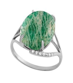 Серебряное кольцо с амазонитом ‒ Mirserebra925.ru