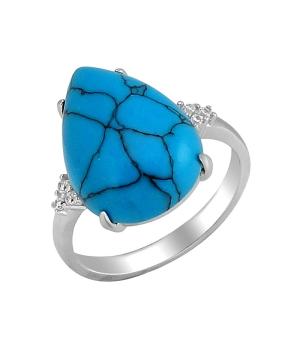 Серебряное кольцо с бирюзой ‒ Mirserebra925.ru