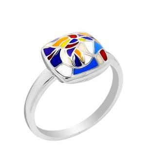 Серебряное кольцо с эмалью ‒ Mirserebra925.ru