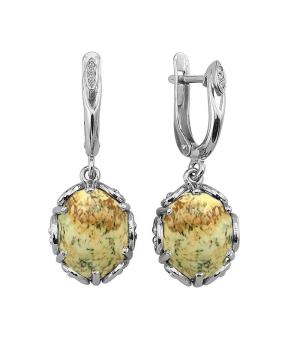 Серебряные серьги с яшмой ‒ Mirserebra925.ru