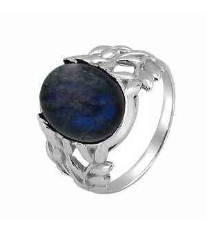 Серебряное кольцо с лабрадоритом ‒ Mirserebra925.ru