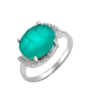 Серебряное кольцо с турмалином ‒ Mirserebra925.ru