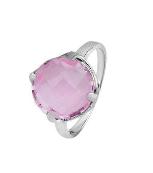 Серебряное кольцо с морганитом – Mirserebra925.ru