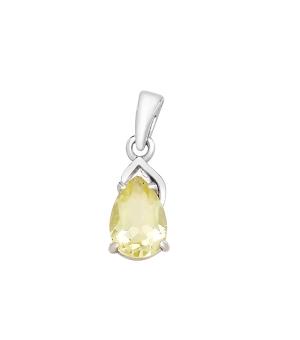 Серебряная подвеска с лимонным топазом – Mirserebra925.ru
