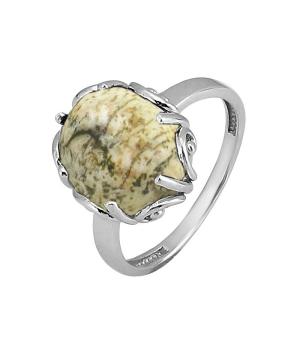 Серебряное кольцо с яшмой ‒ Mirserebra925.ru