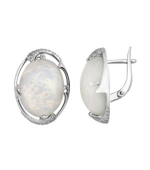 Серебряные серьги с опалом – Mirserebra925.ru