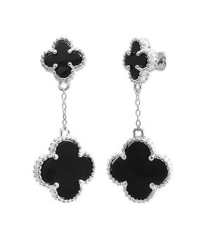Серебряные серьги с ониксом – Mirserebra925.ru