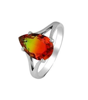 Серебряное кольцо с радужным кварцем ‒ Mirserebra925.ru