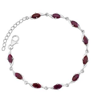 Серебряный браслет с рубинами – Mirserebra925.ru
