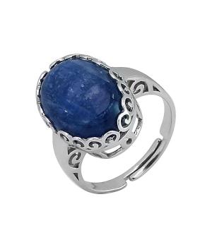Серебряное кольцо с кианитом ‒ Mirserebra925.ru