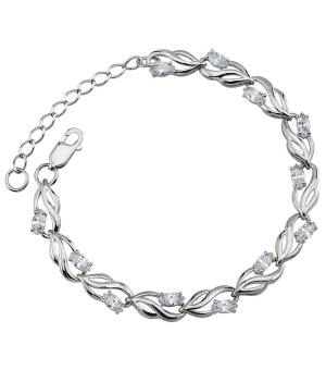 Серебряный браслет с цирконами – Mirserebra925.ru