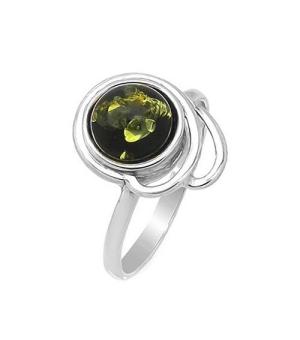 Серебряное кольцо с янтарем ‒ Mirserebra925.ru