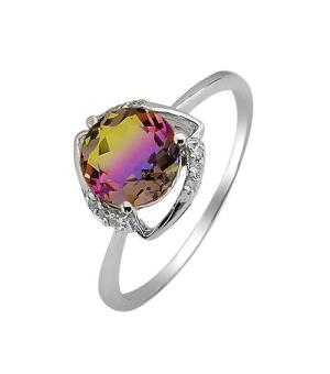 Серебряное кольцо с аметрином ‒ Mirserebra925.ru