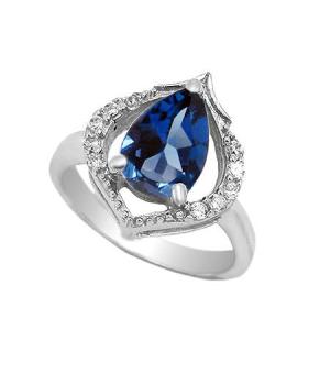 Серебряное кольцо с лондон топазом ‒ Mirserebra925.ru