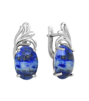 Серебряные серьги с лазуритом – Mirserebra925.ru