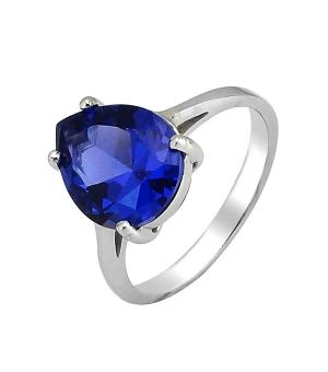 Серебряное кольцо с танзанитом ‒ Mirserebra925.ru