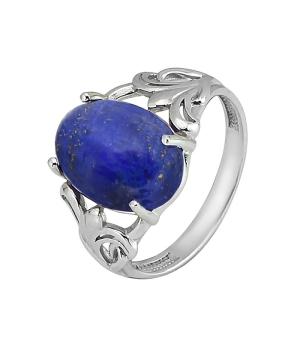 Серебряное кольцо с лазуритом – Mirserebra925.ru