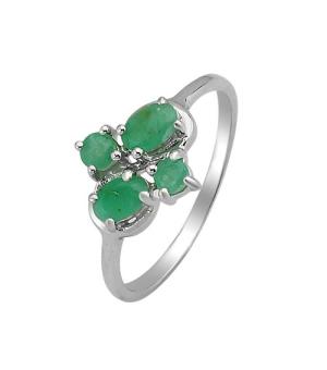 Серебряное кольцо с изумрудом – Mirserebra925.ru
