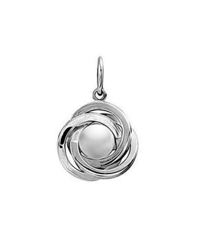 Серебряная подвеска с жемчугом swarovski ‒ Mirserebra925.ru