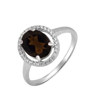 Серебряное кольцо с раухтопазом – Mirserebra925.ru
