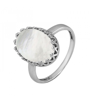 Серебряное кольцо с перламутром ‒ Mirserebra925.ru