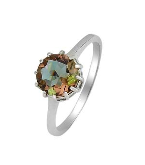Серебряное кольцо с султанитом ‒ Mirserebra925.ru