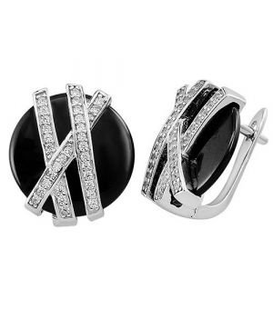 Серебряные серьги с керамикой – Mirserebra925.ru
