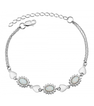 Серебряный браслет с опалом – Mirserebra925.ru