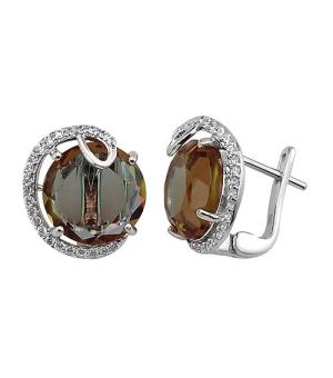 Серебряные серьги с султанитом ‒ Mirserebra925.ru