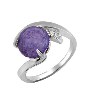 Серебряное кольцо с чароитом – Mirserebra925.ru