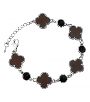 Серебряный браслет с керамикой – Mirserebra925.ru